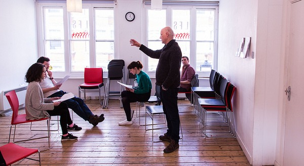 Tim Fywell with workshop participants